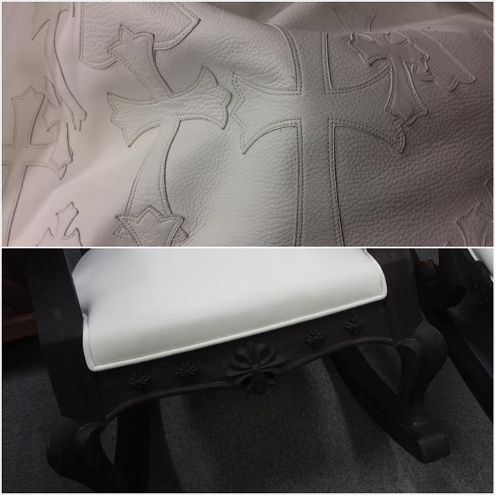 家具のあちこちにクロムハーツのシンボル、クロスデザイン