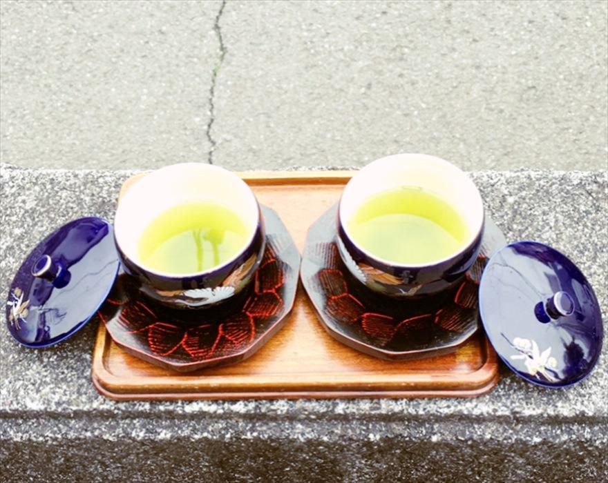 立寄り先のご実家でいただいた静岡のお茶