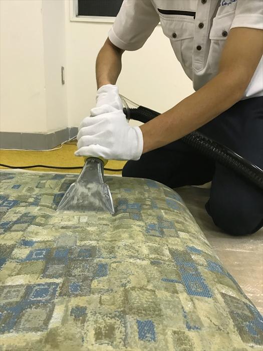 クッションも全て同様の工程で洗浄します。