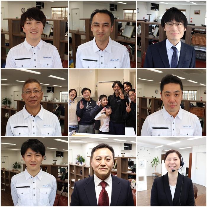 """写真中央「お客様""""田中様ご家族様""""」"""