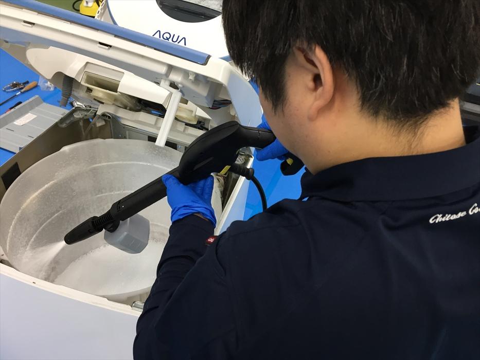 全自動(縦型)洗濯機のプレミアム分解クリーニング