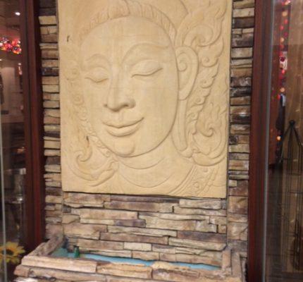 店舗移転の石画