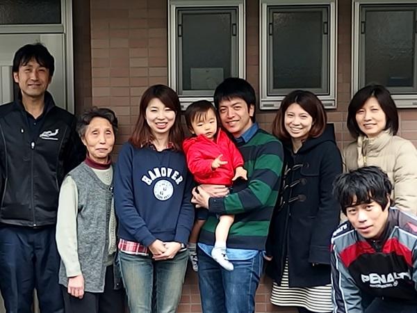 引越完了後ご家族さまと撮影した記念写真