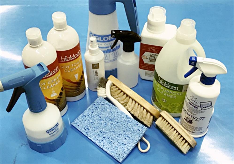 冷蔵庫クリーニングに使用する洗剤と道具