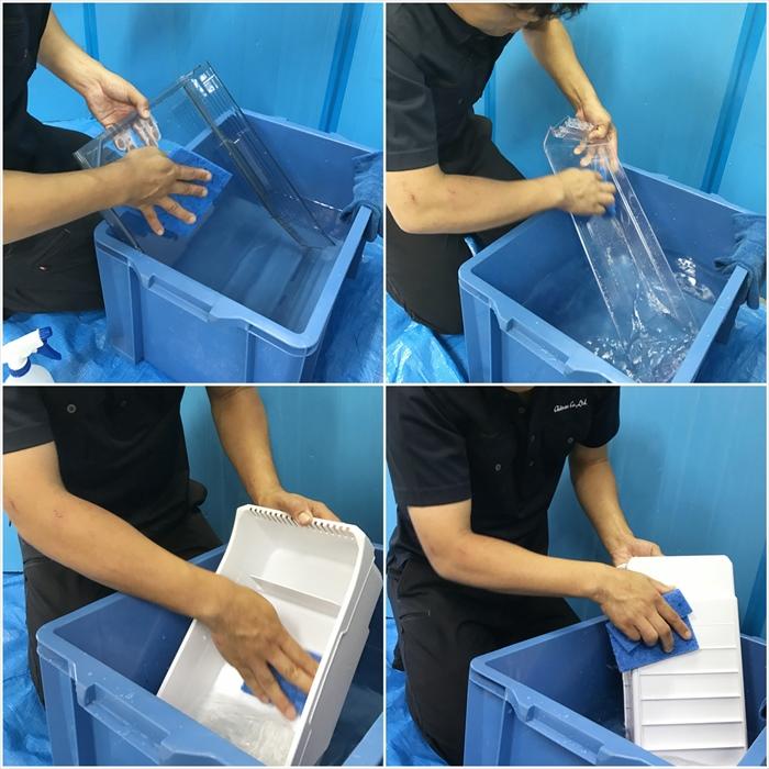 冷蔵庫クリーニング作業.3