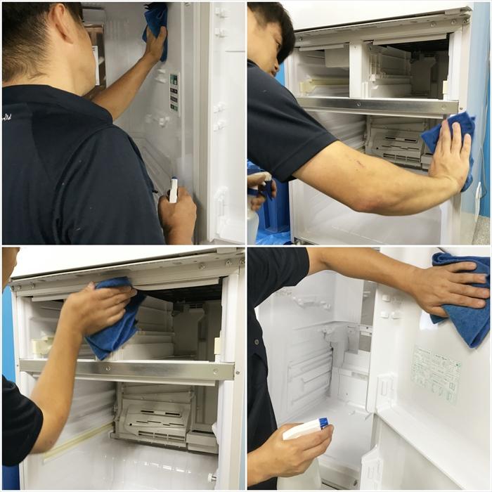 冷蔵庫クリーニング作業.4