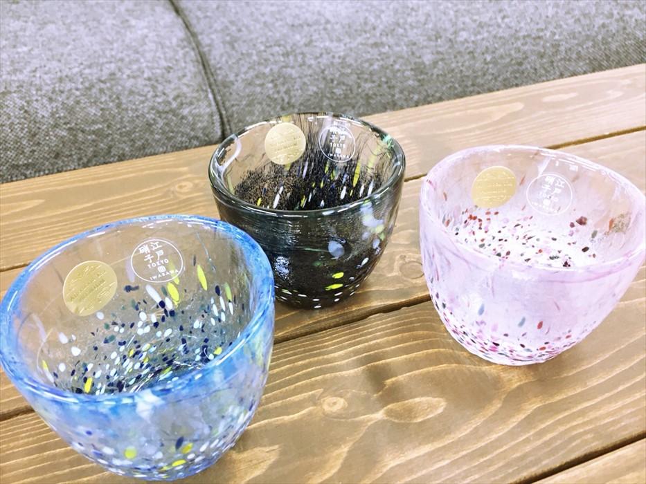 3種のキレイなグラス