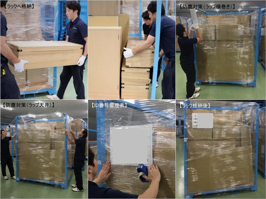 参考写真:倉庫作業過程