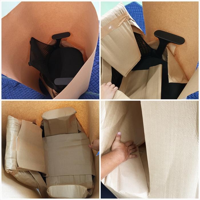 セイルチェアの保管用梱包:全体