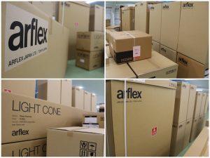 大量の新品アルフレックス家具