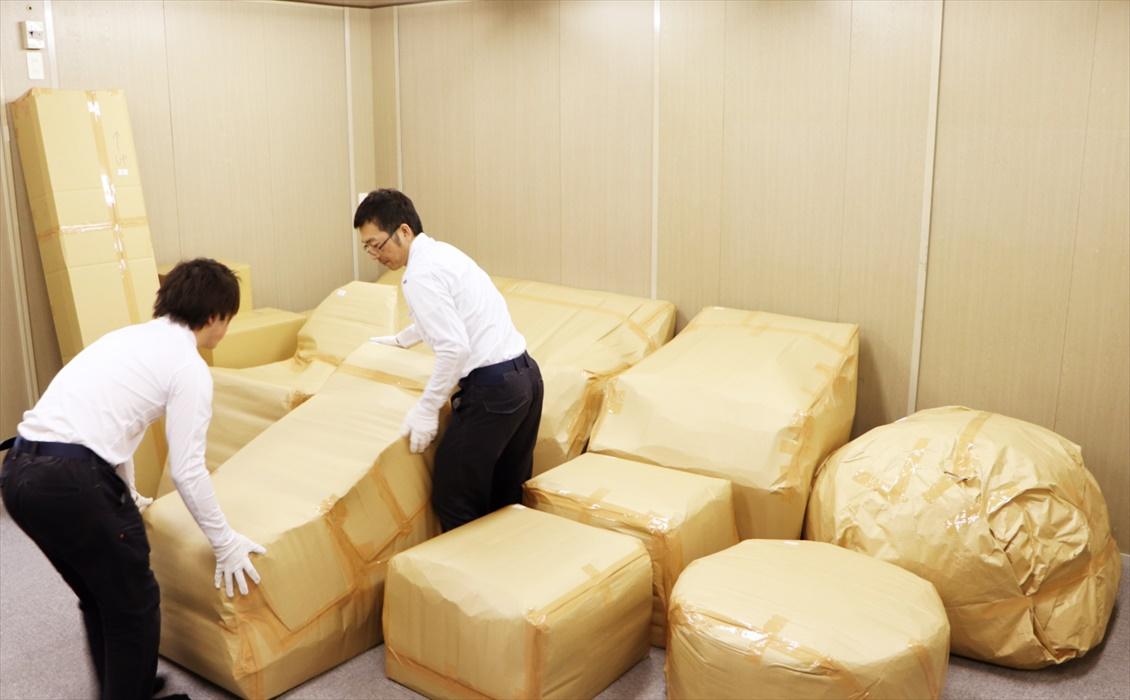 クロムハーツ家具を出庫前梱包の完成