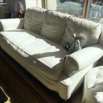 クロムハーツホワイトレザー3Pソファ