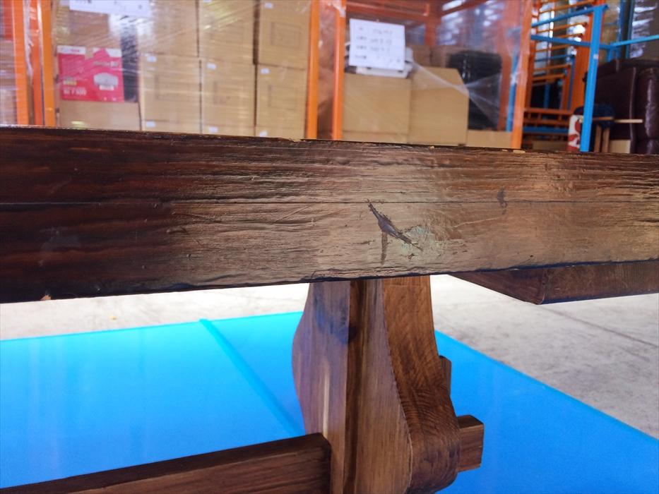 お預かりしたダイニングテーブルの天板の厚さ