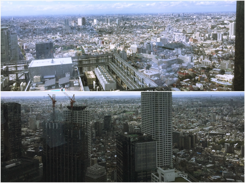 東京オフィスタワービルからの眺め