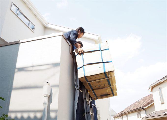 冷蔵庫の手吊り作業.7