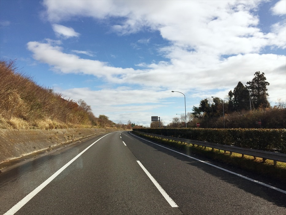 天気が回復した東北自動車道