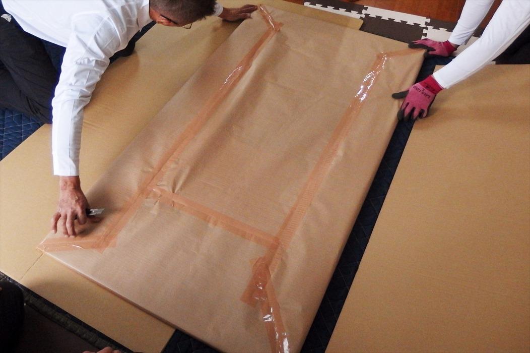 御影石ダイニングテーブルの梱包.5