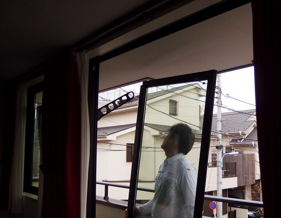 御影石ダイニングテーブル吊り作業.1