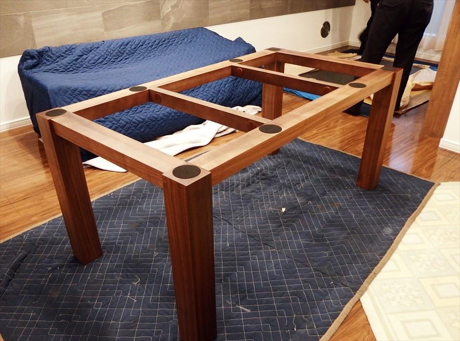 御影石ダイニングテーブル開梱設置.3