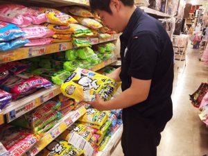 買い物(猫砂)
