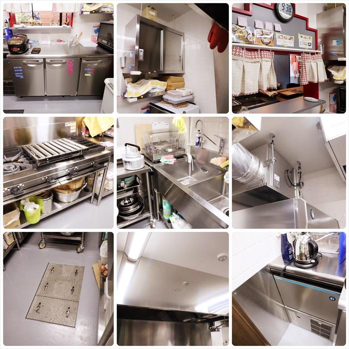 厨房のクリーニング後