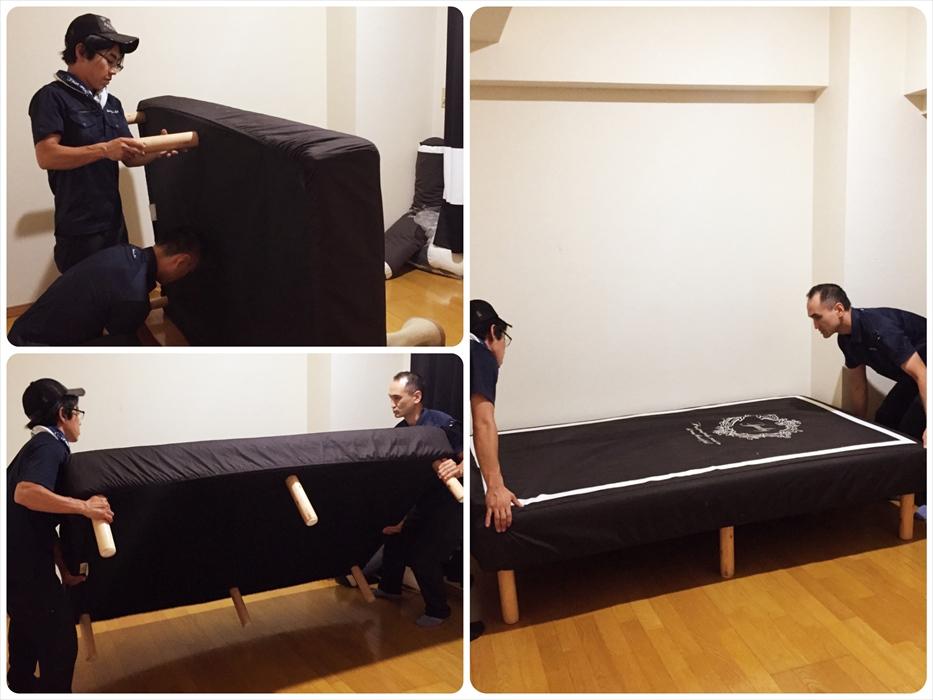 ベッドの運び込み設置