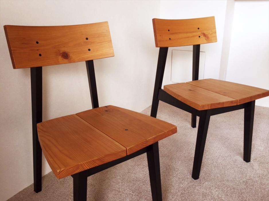 天然無垢材椅子.2