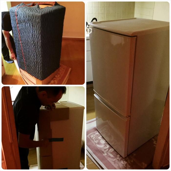 冷蔵庫の運び込み設置