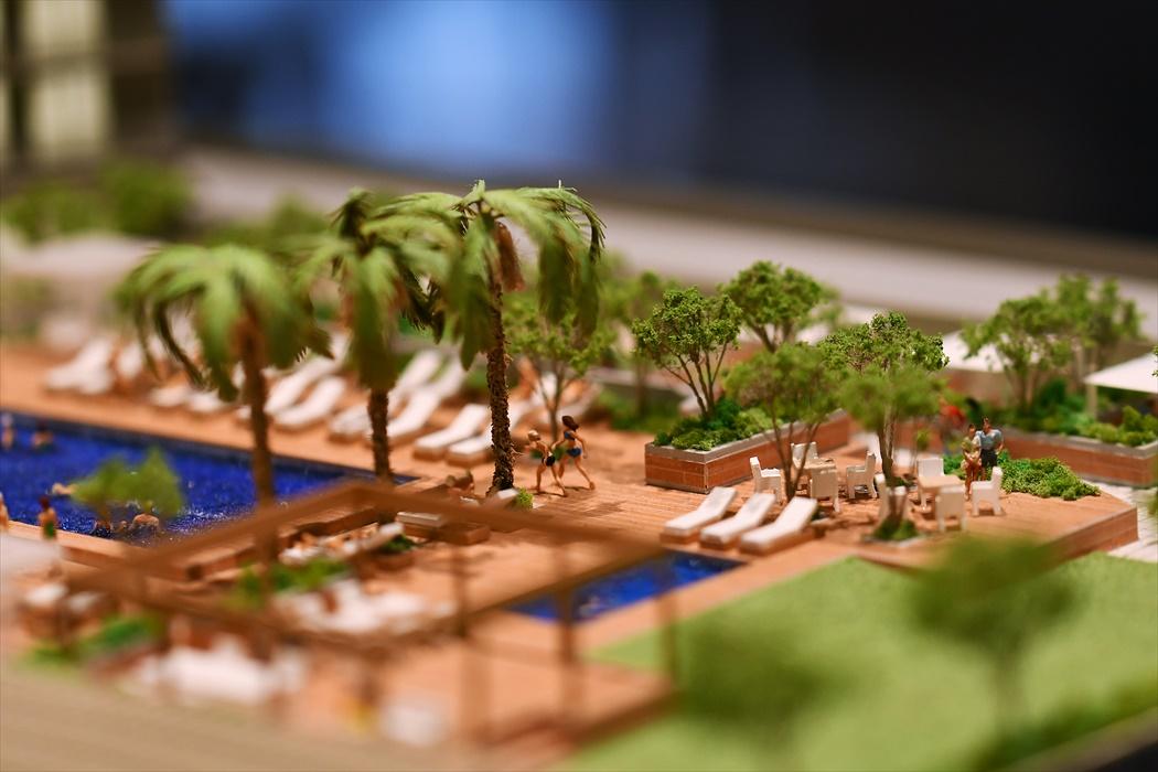 ハワイコンドミニアムの模型.3
