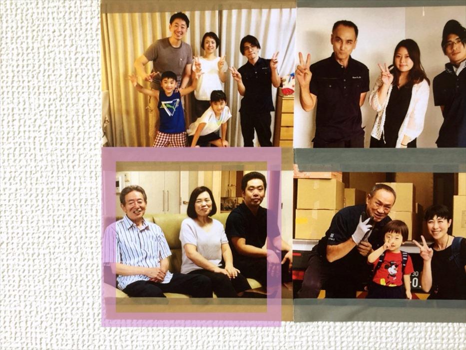 壁に貼られた写真.1