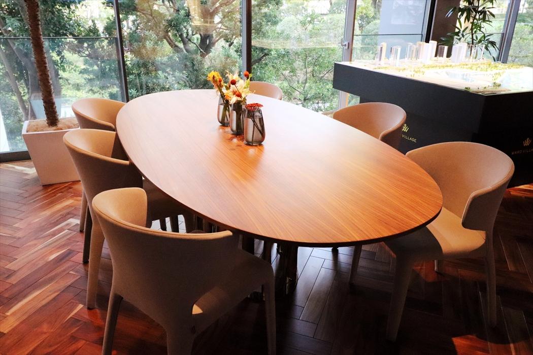 ウォールナット巨大会議テーブル