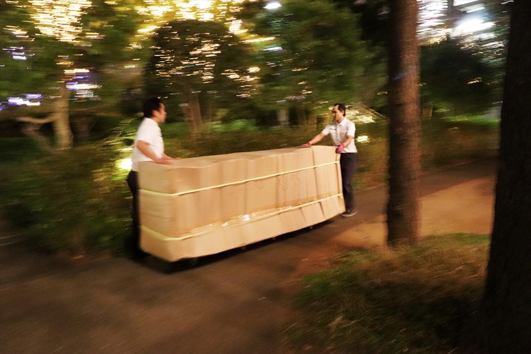 ソファの運搬(台車)