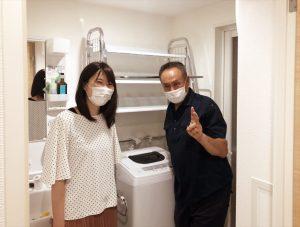 家具組立サービスご利用のお客様記念写真