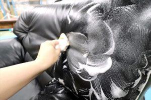 ソファの泡洗浄.4