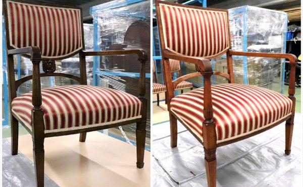 アンティーク椅子の再生クリーニング