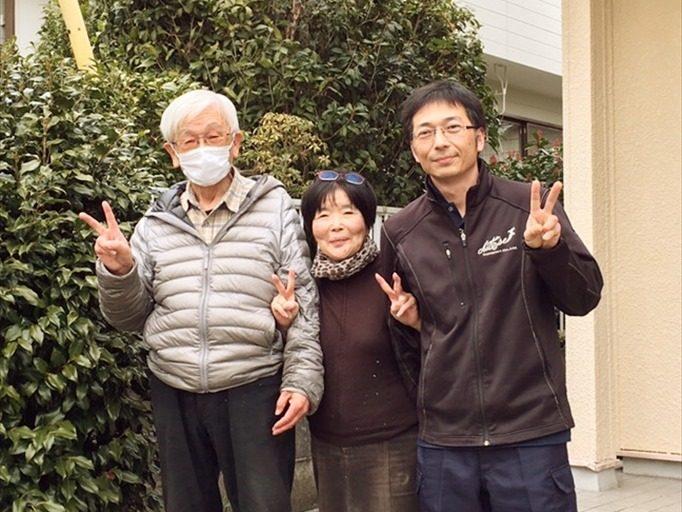 引越完了後静岡で撮影した記念写真