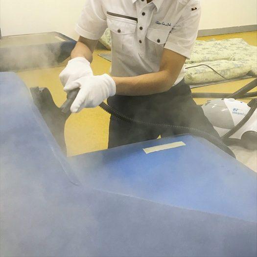スチーマー洗浄作業