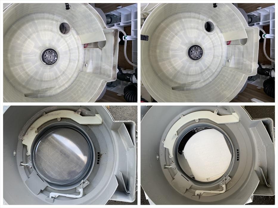 ドラム洗濯機の分解クリーニング洗浄後