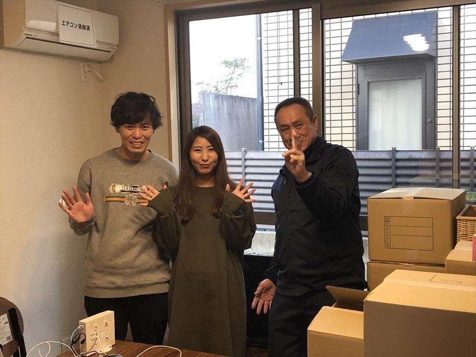 引越サービス完了後のお客様記念撮影.13