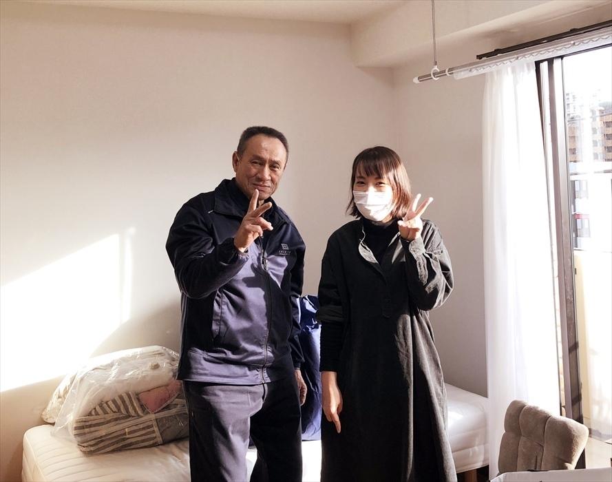 引越サービス完了後のお客様記念撮影.14